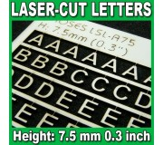Proses LSL-A75 Laser-Cut Letters 7.5mm (1/3 inch)