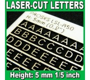 Proses LSL-A50 Laser-Cut Letters 5mm (1/5 inch)