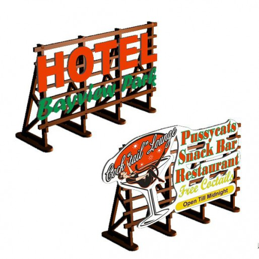Proses LS-320 Billboards No: 3 Pussycats + Hotel Bayview