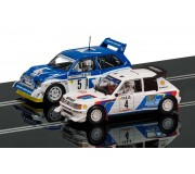 Scalextric C3590A Classic Collection Peugeot 205 T16 E2 & MG Metro 6R4