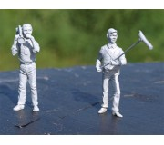 LE MANS miniatures Figurine Equipe TV : Cameraman et preneur de son