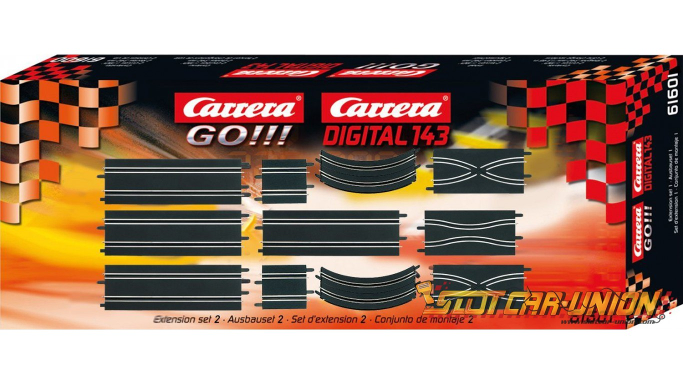 carrera go 61601 extension set 2 slot car union. Black Bedroom Furniture Sets. Home Design Ideas
