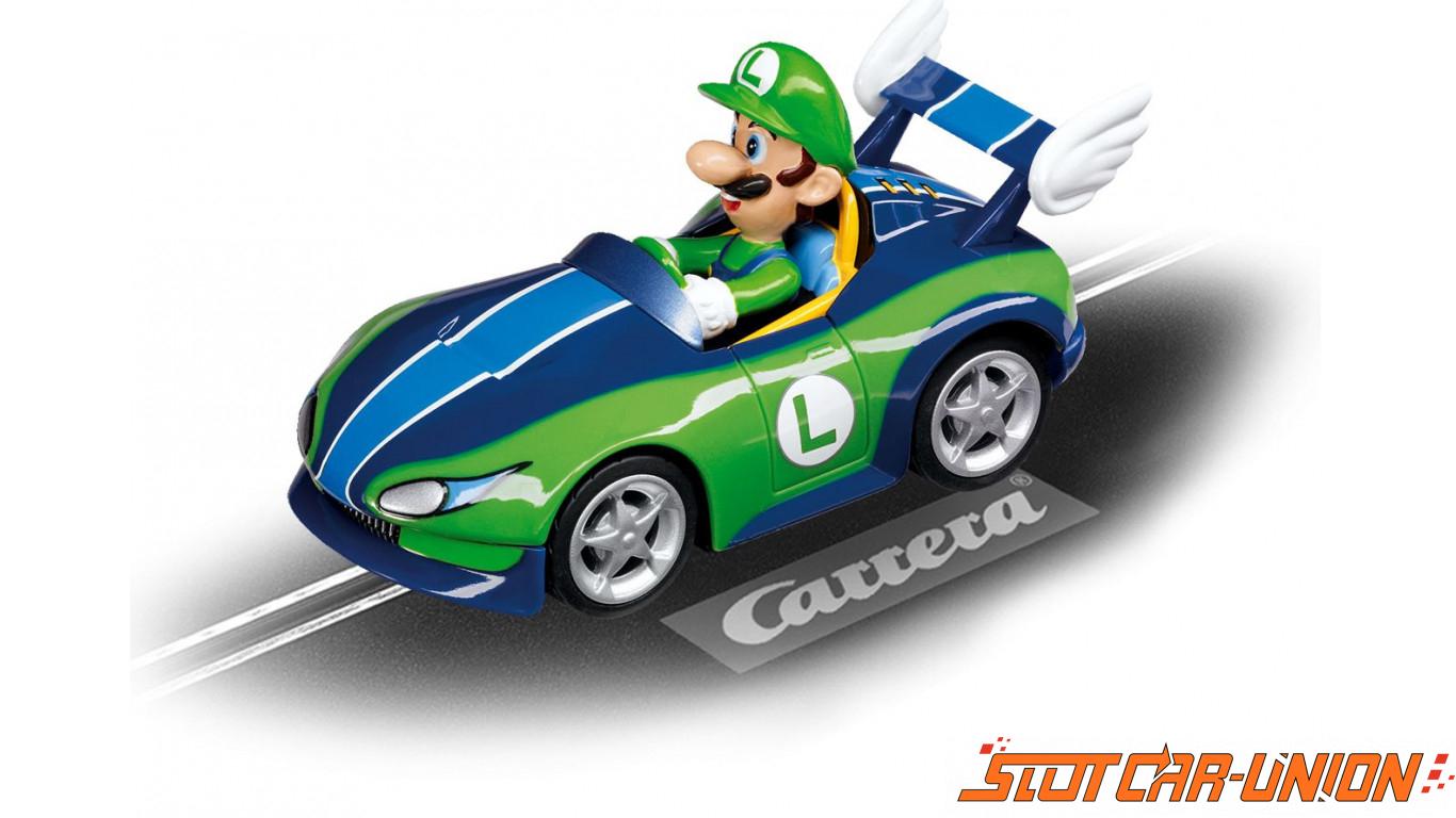 Carrera go 61260 mario kart wii wild wing luigi slot for Coupe miroir mario kart wii
