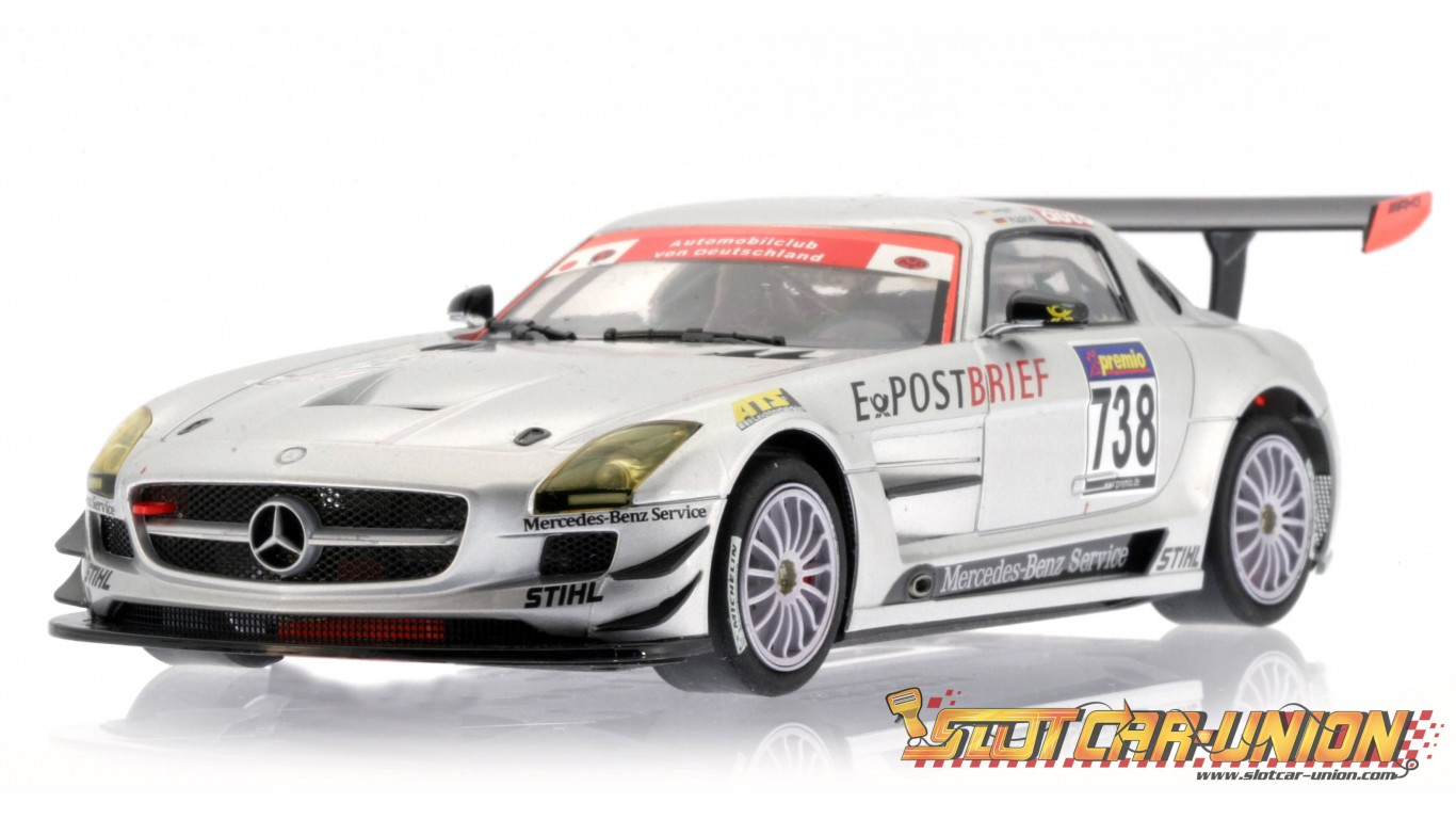 scaleauto sc 6016b mercedes sls amg gt3 nurburgring 2010 n. Black Bedroom Furniture Sets. Home Design Ideas