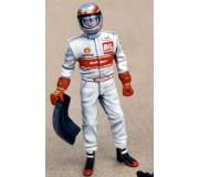 LE MANS miniatures Figure Tom Kristensen standing & waiting for taking over