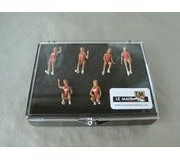 LE MANS miniatures Hawaiian Tropic Girls Set of 6 painted figures
