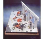 LE MANS miniatures Basic pit - Ferrari 333SP Le Mans 1996