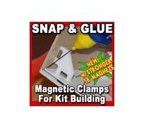 Proses PR-SS-01 Pinces Magnétiques Snap & Glue x4