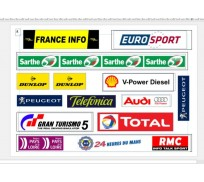 Slot Track Scenics LML-A Logos Le Mans pack A