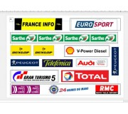 Slot Track Scenics LML-A Le Mans Logos pack A