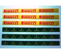 Slot Track Scenics LL R/P Long Logos (Rolex + Pirelli) x6