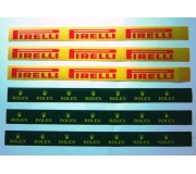 Slot Track Scenics LL R/P Logos Longs (Rolex + Pirelli) x6