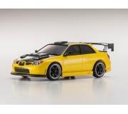 Kyosho Mini-Z MA020 Sports 4WD Subaru Impreza WRX Aero Kit (KT19) Jaune/Capot Noir