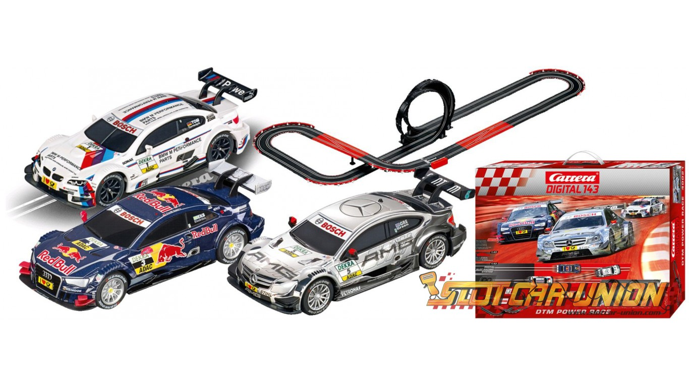 carrera digital 143 40021 dtm power race set slot car union. Black Bedroom Furniture Sets. Home Design Ideas