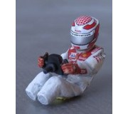 LE MANS miniatures Figure Driver Audi R10 TDI sit (with decal sets)