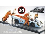 LE MANS miniatures Complete team set of 6 figures