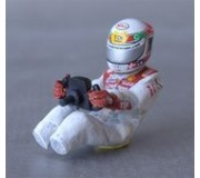 LE MANS miniatures Figure T. Kristensen Audi R10 TDI sit (with decal sets)
