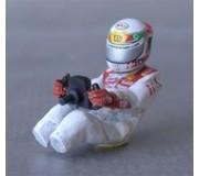 LE MANS miniatures Figurine T. Kristensen Audi R10 TDI assis (avec décalques)