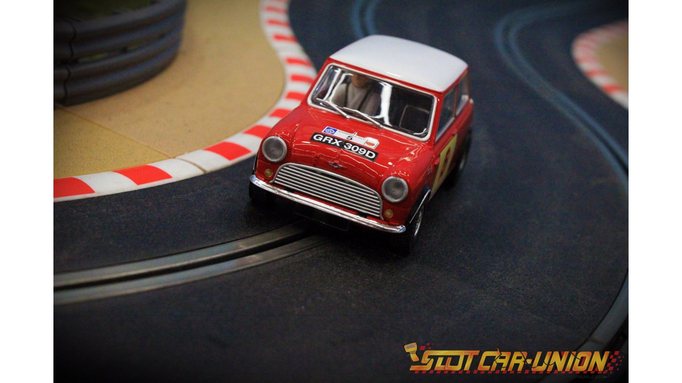 Scalextric Mini Cooper S RAC Rally 1966 Slot Car 132 Scale Hornby C3747