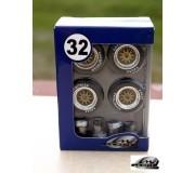 """LE MANS miniatures Jeu de roues 18"""" type BBS"""