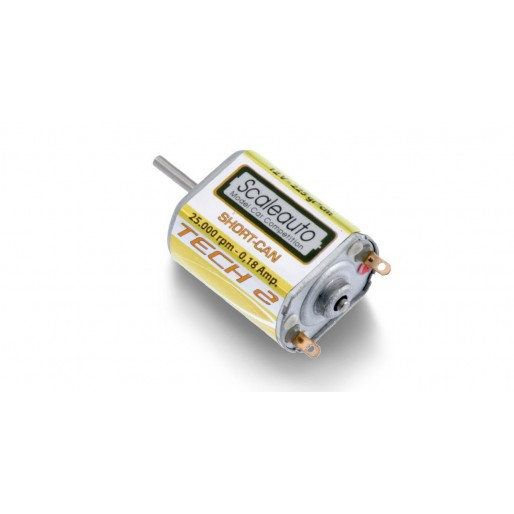 Scaleauto SC-0015b Scaleauto SC-15 / 2  motor without Pinions  -TECH 2- Yellow