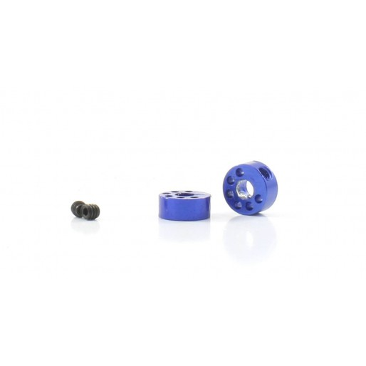 "Scaleauto SC-1124 Axle stopper for 3/32"" lightened blue anodized aluminium, for anglewinder/sidewinder gears"