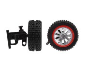 Carrera RC 2 Front Tire with Steering Axle for Carrera RC X-Fox One