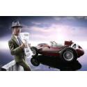 LE MANS miniatures Figurine 1/18 Enzo Ferrari lisant le journal