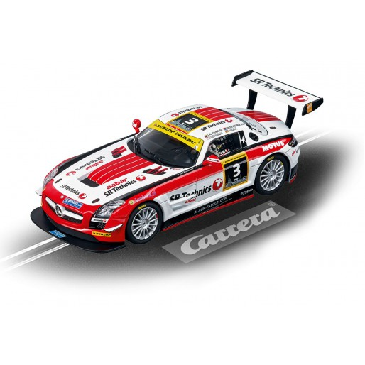 Carrera Evolution 27427 Mercedes-Benz SLS AMG GT3 Black Falcon, 24h Dubai 2012 No.3