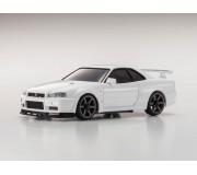 Kyosho Mini-Z MA020 Sports 4WD Nissan Skyline GT-R R34 V.spec II (KT19) Blanche