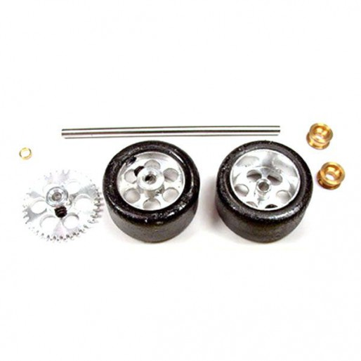 """NSR 9112 Rear Kit RTR Tires on 17"""" wheels for Sidewinder Fly/Scalextric"""