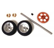 NSR 9122 Rear Kit RTR Sponge Tires on big wheels for Fly/Scalextric Sidewinder