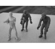 LE MANS miniatures Figurines 1 Team manager + 2 mécanos