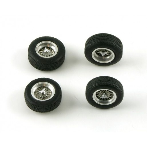 LE MANS miniatures Set of 4 spoked wheels TR61 typ