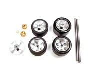 "NSR 9212 Front+Rear Kit with Tires on 17"" wheels for Fly/Scalextric Sidewinder"
