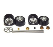 """NSR 9213 Front+Rear Kit with Tires on 17"""" wheels for Ninco Anglewinder + pinion"""