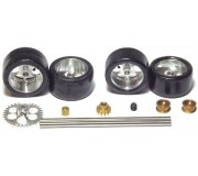 "NSR 9203 Front+Rear Kit with Tires on 16"" wheels for Ninco Anglewinder + pinion"
