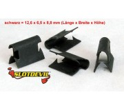 Slotdevil 05990005 Retaining clips black universal x50