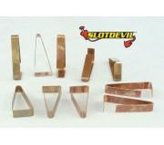 Slotdevil 05990006 Clips pour alimentation supplémentaire Carrera x10