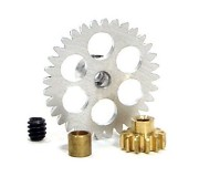 NSR 6704 Kit Anglewinder 12:32 32 Gear + 12 Pinion + 3mm Axle Spacer for Ninco