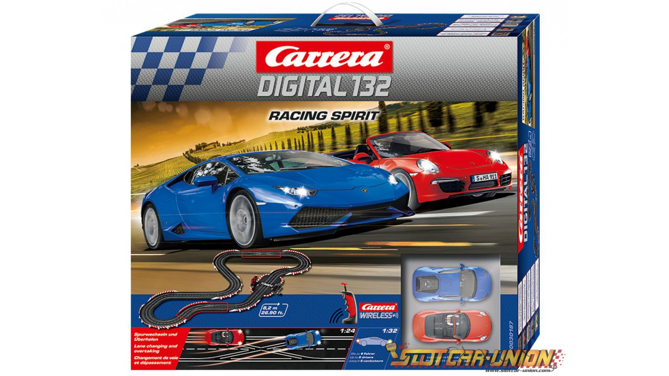 carrera digital 132 30187 racing spirit set slot car union. Black Bedroom Furniture Sets. Home Design Ideas