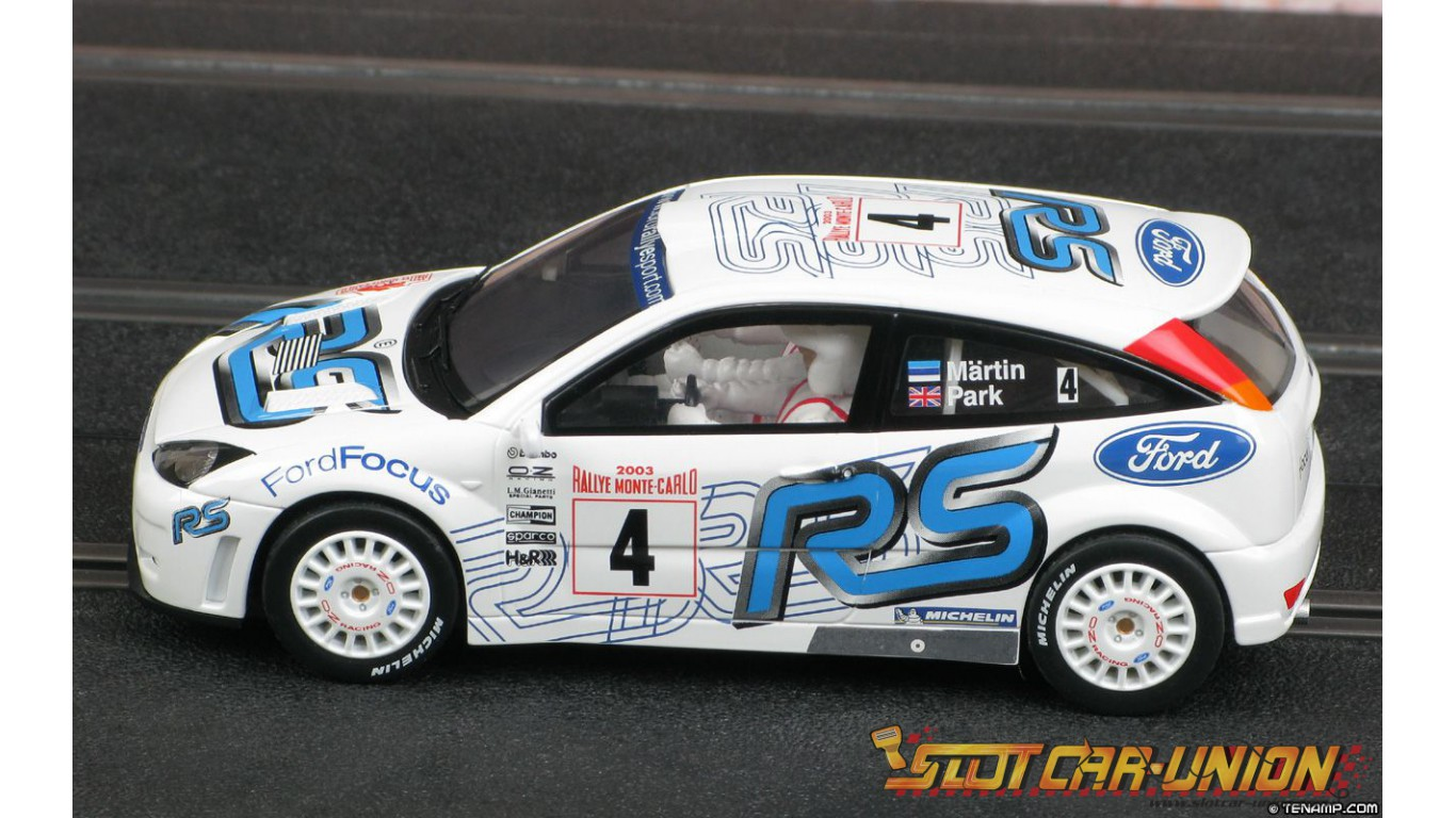 Scalextric C2489 Ford Focus WRC 4th place - Rallye Monte-Carlo 2003 ...