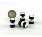 LE MANS miniatures Bidon 200l métal noir & blanc