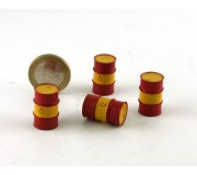 LE MANS miniatures Metal drum 200l red & yellow