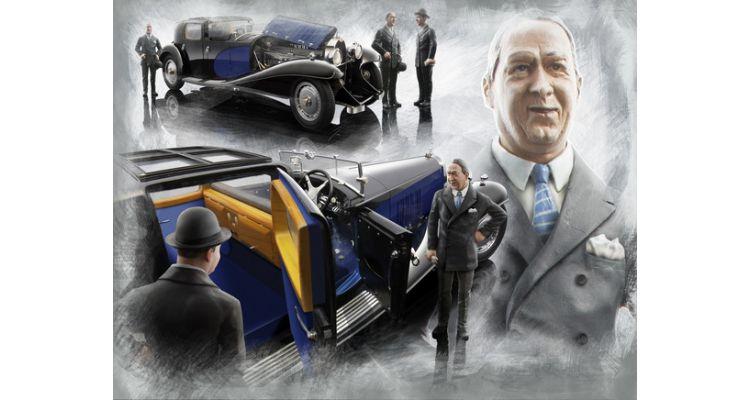 LE MANS miniatures Figurine 1//18 Ettore Bugatti