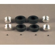 Proto Slot-Kit SR15 Set de 2 Jantes Alu 14x5.5mm + 2 Pneus 20x7mm + 2 Jantes Alu 14x7.5mm + 2 Pneus 22x9mm + 4 Vis