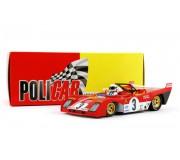 Policar CAR01a Ferrari 312 PB n.3 Brian Redman, Arturo Merzario 1000 Km Monza 1972