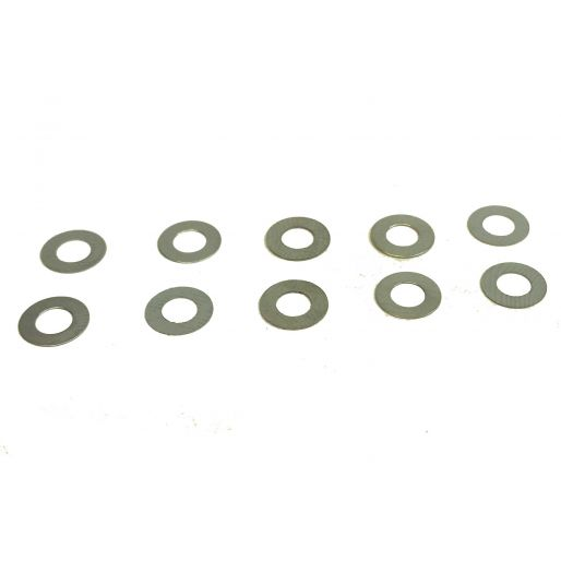 BRM S-011-A Steel spacers for 3mm axle 0.1mm x10