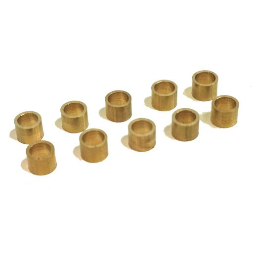 BRM S-011-E Brass spacers for 3mm axle 2.0mm x10