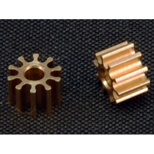 BRM S-034 Brass pinion 10 teeth x2